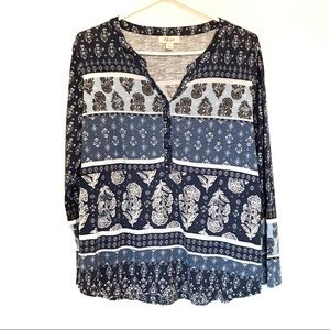 NWOT Style & co split neck long sleeves to…